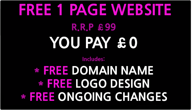 free 1 page website design uk