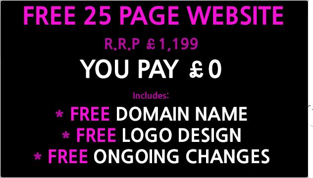 free 25 page website design uk
