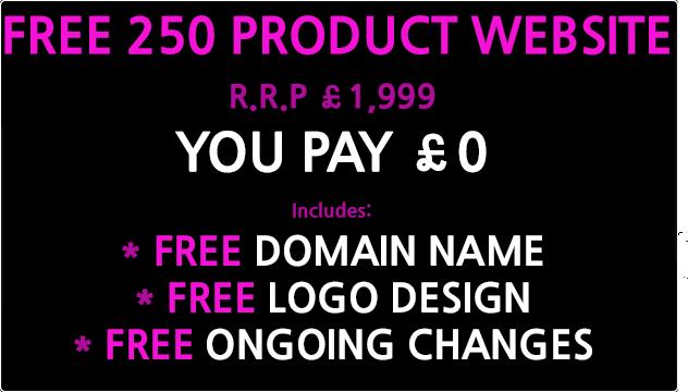 free 250 product website design