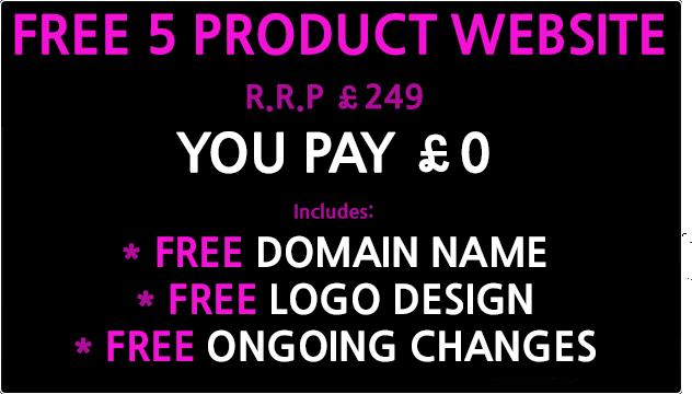 free 5 product website design