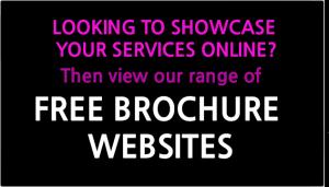 free brochure website design